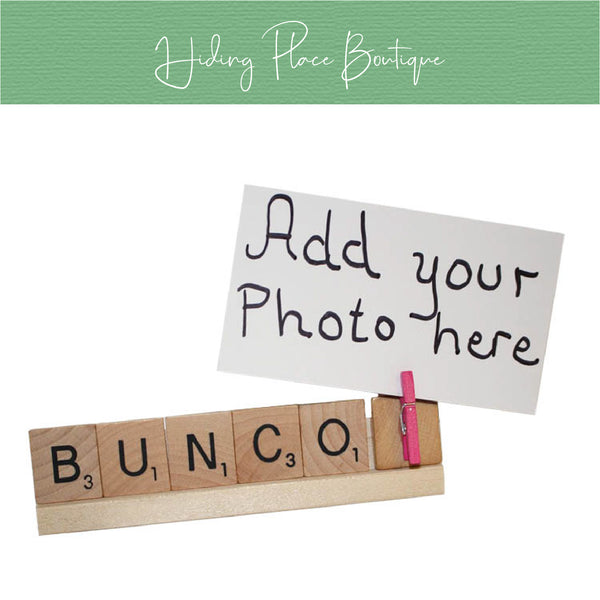 Bunco Photo Holder