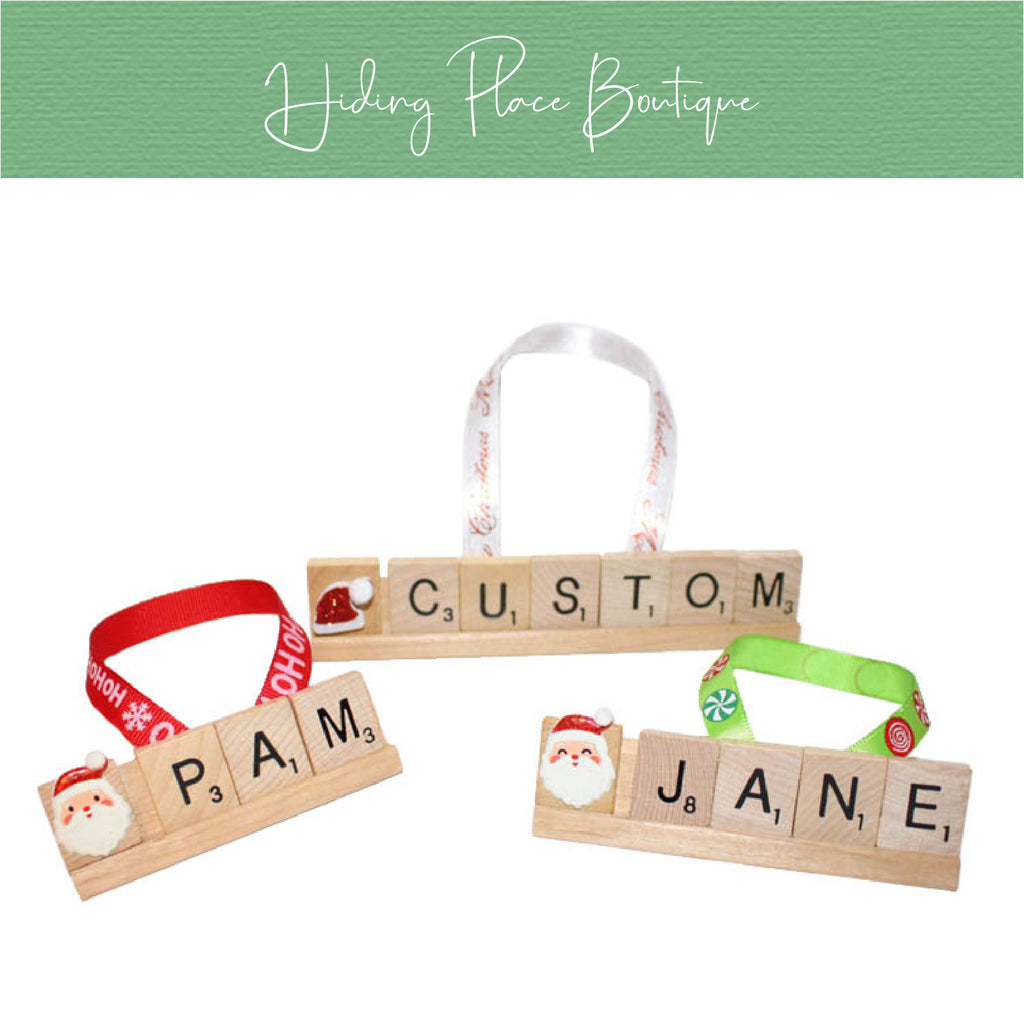 Custom Name 1 - 4 Letter Ornament