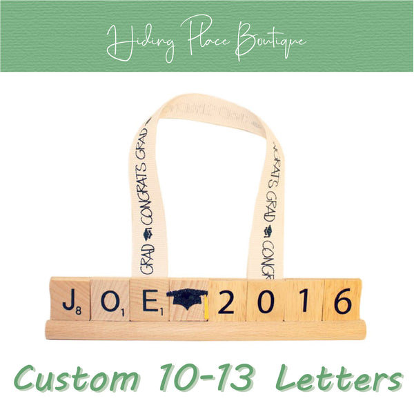 Custom Grad Name & Year 10 - 13 Letter Ornament