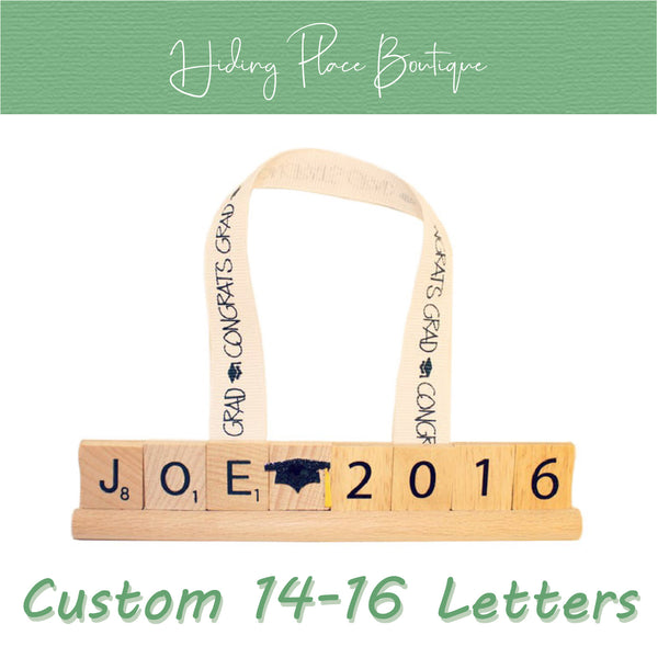 Custom Grad Name & Year 14 - 16 Letter Ornament