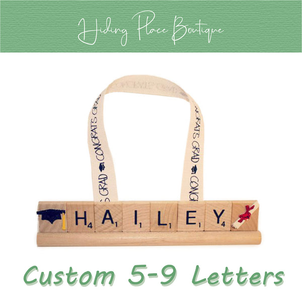 Custom Grad Name 5 - 9 Letter Ornament