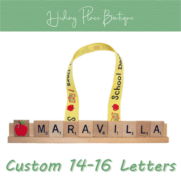 Custom Teacher Name 14 - 16 Letter Ornament