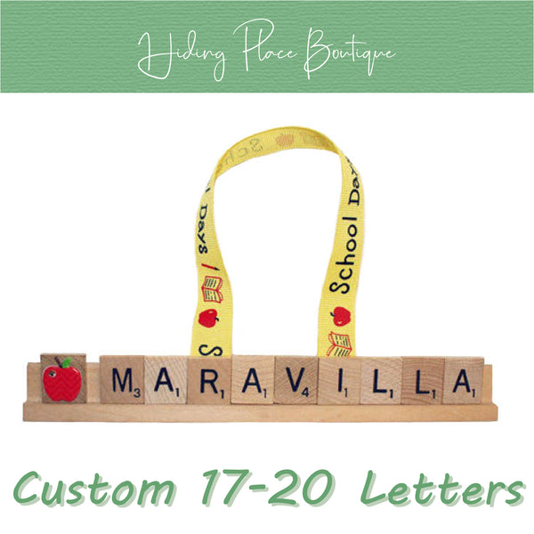 Custom Teacher Name 17 - 20 Letter Ornament