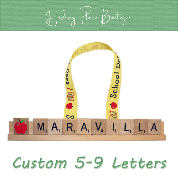 Custom Teacher Name 5 - 9 Letter Ornament