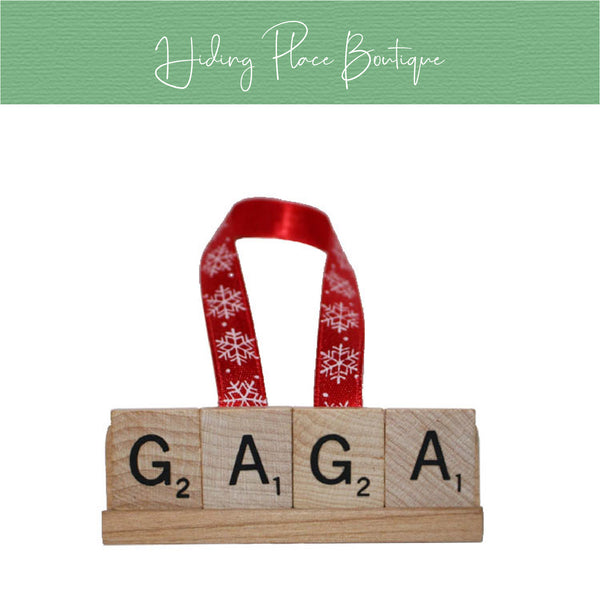 Gaga Christmas Ornament
