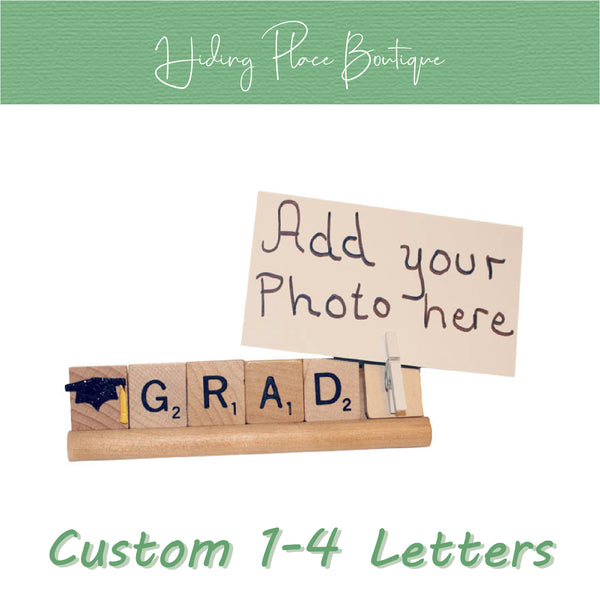 Custom Grad Name 1 - 4 Letter Photo Holder