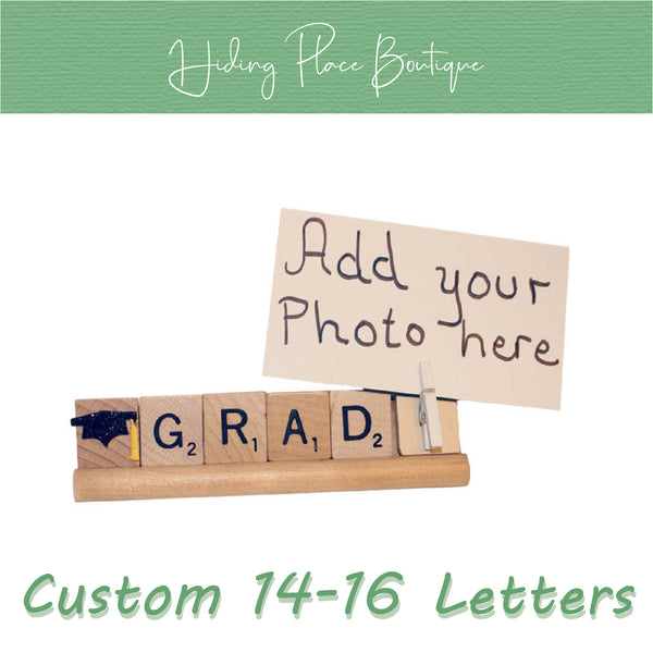 Custom Grad Name 14 - 16 Letter Photo Holder