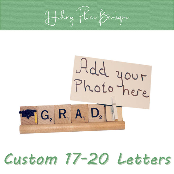 Custom Grad Name 17 - 20 Letter Photo Holder