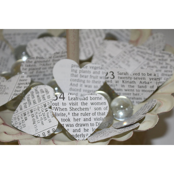 Bible Heart Confetti, Flower Girl Toss, Wedding Departure, Wedding Confetti, Vintage Bible Pages, Wedding Toss, Wedding Exit, Reception