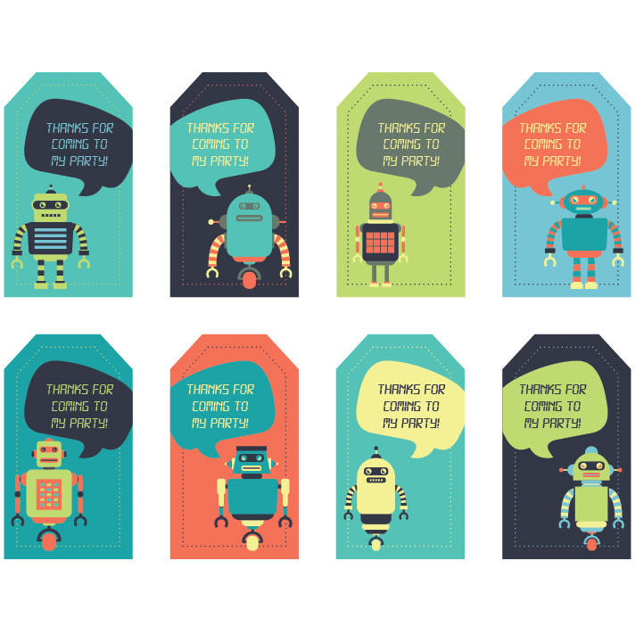 image regarding Printable Thank You Tags known as Robotic Thank By yourself Tags - Do it yourself Printables