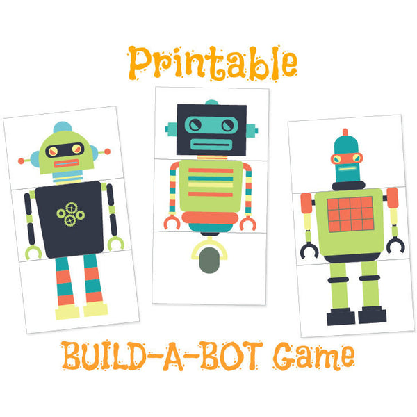 Robot Party Game - DIY Printables