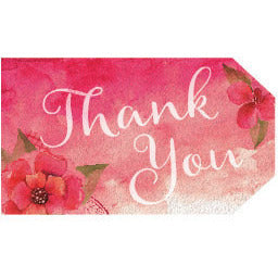 Flower Thank You Tags (Pink) - DIY Printables