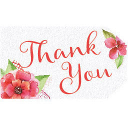 Flower Thank You Tags (White) - DIY Printables