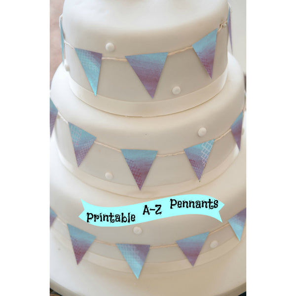 Blue Cake Topper - PRINTABLE