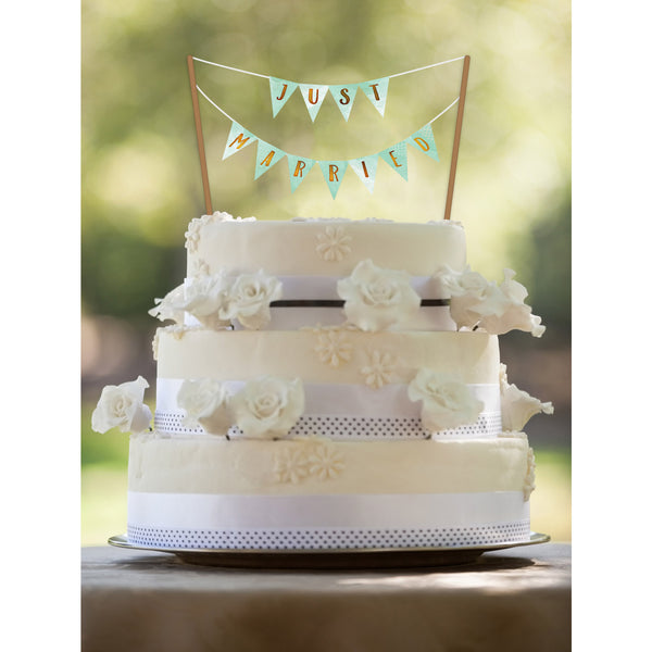 Mint & Gold Cake Banner (Customizable) - DIY Printables