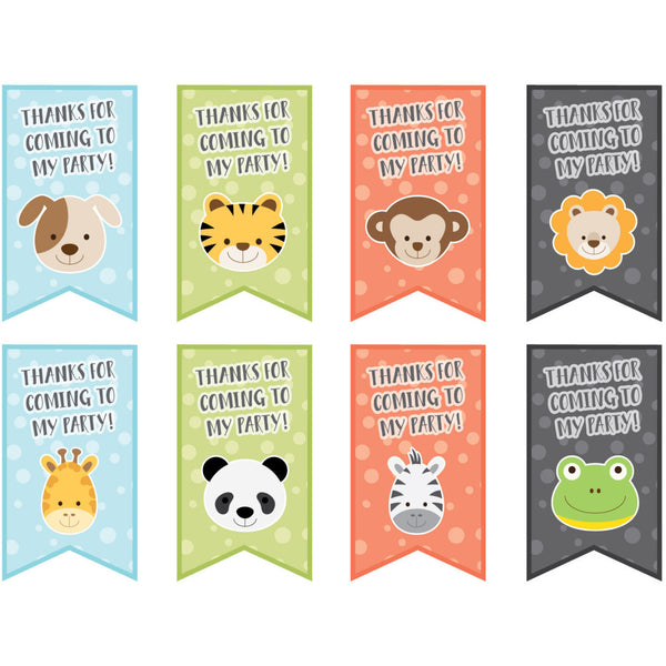 Animal Party Tags - PRINTABLE