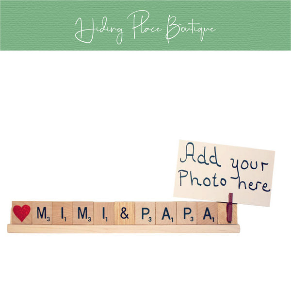 Mimi & Papa Photo Holder
