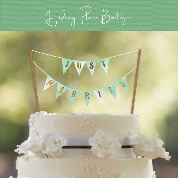 Mint & Gold Cake Banner (Customizable) - DIY A-Z Printables