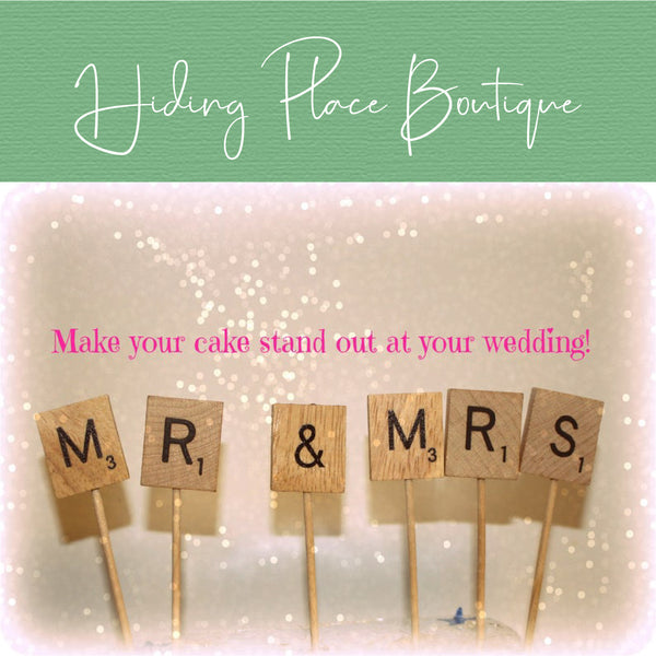 Toothpick Letters - Wedding Cake Topper