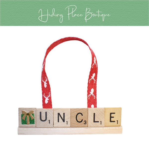 Uncle Christmas Ornament