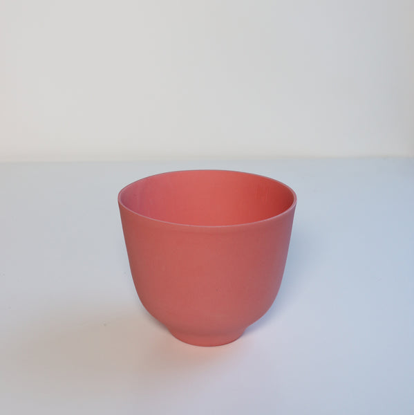 January Bowl/Candle Holder - Strawberry Red