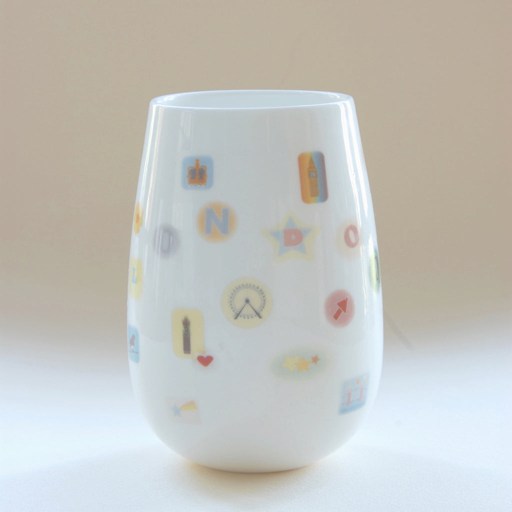 London Sticker Vase