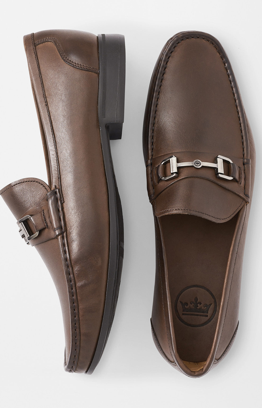 HYPERLIGHT LEATHER BIT LOAFER - BROWN
