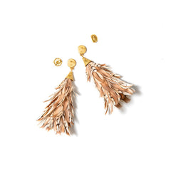 ANNA FEATHER EARRINGS