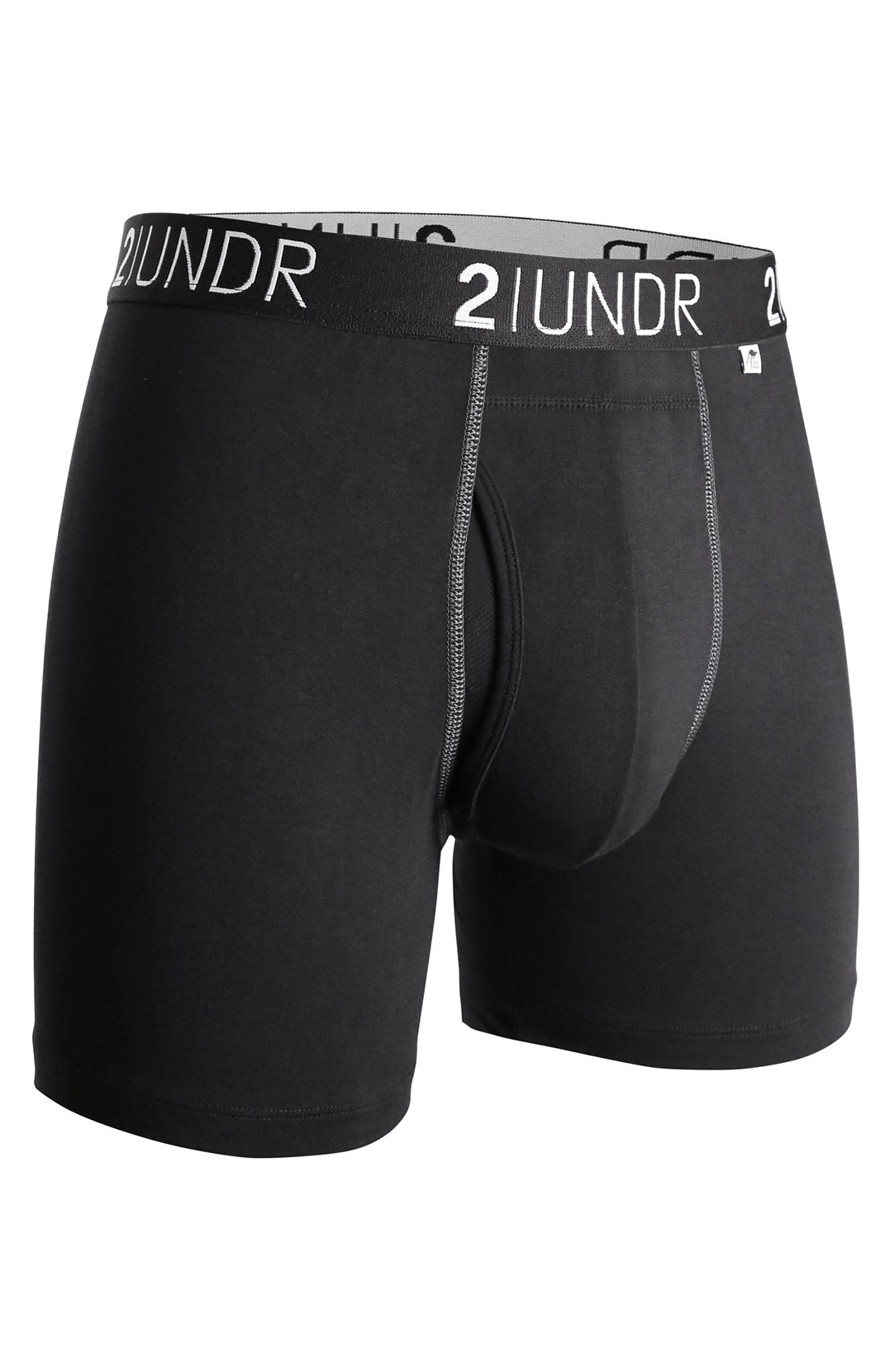 "SWING SHIFT 6"" BOXER BRIEF - BLACK/GREY"