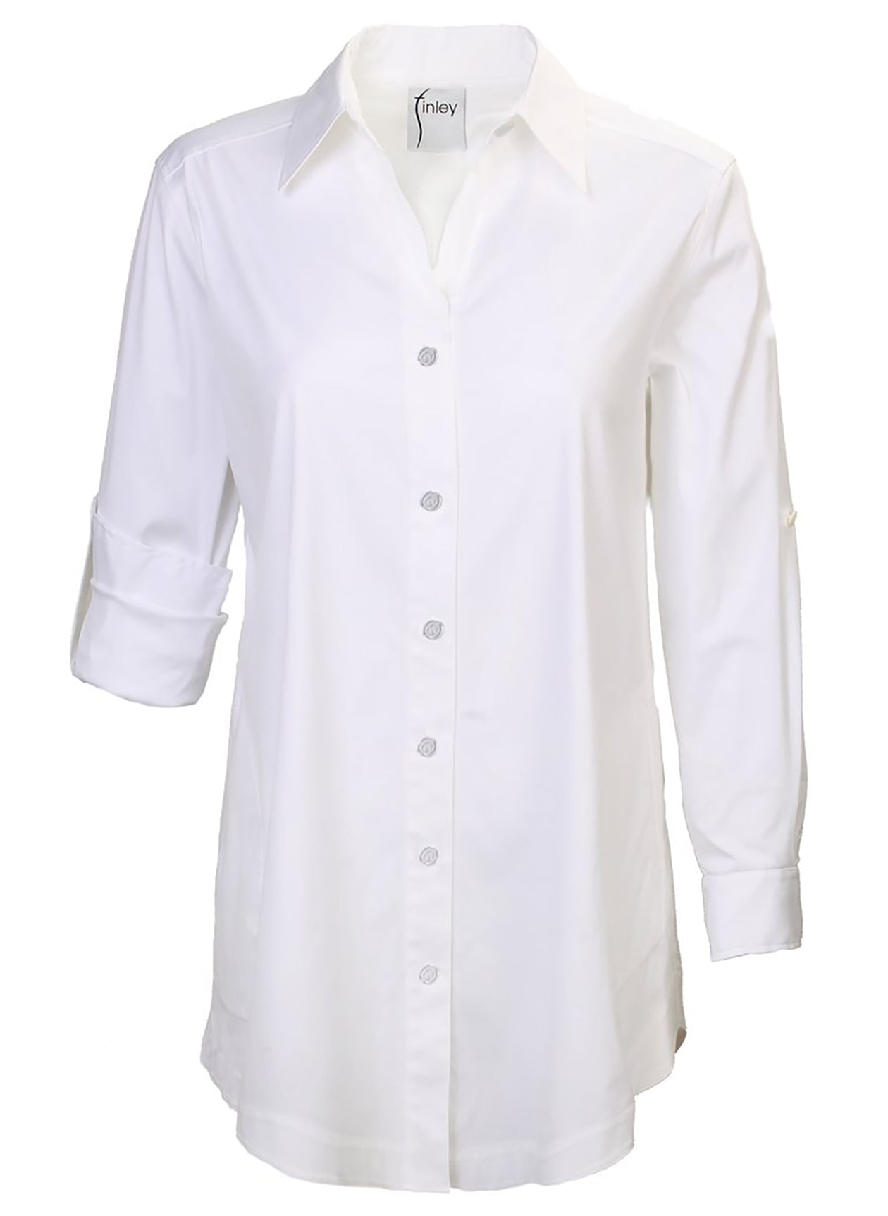 SINCLAIR SOLID TUNIC - WHITE