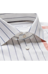 WIDE STRIPES WHITE SHIRT