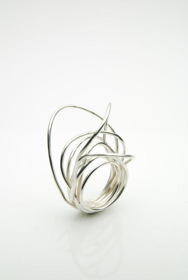 MULTI WIRE STERL.SILVER RING