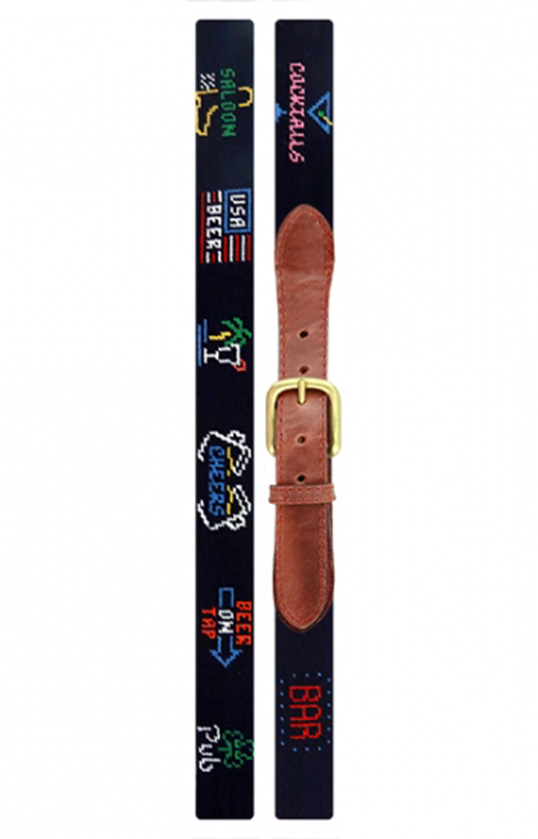 LAST CALL NEEDLEPOINT BELT - MIDNIGHT