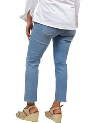 DREAM KICK FRINGE JEANS - BABY BLUE WASH