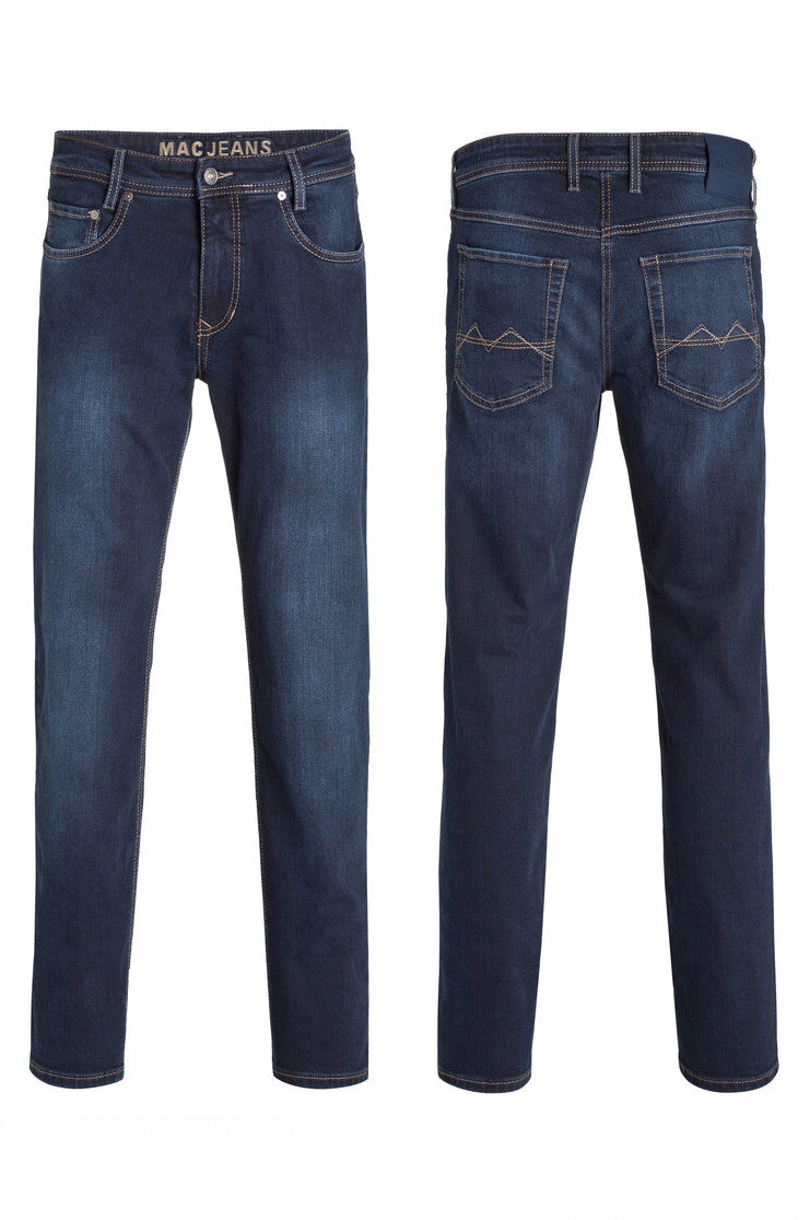 dark blue mens modern fit arne mac jeans
