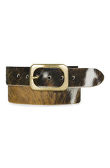 DARCY COWHIDE LEATHER BELT - COWHIDE