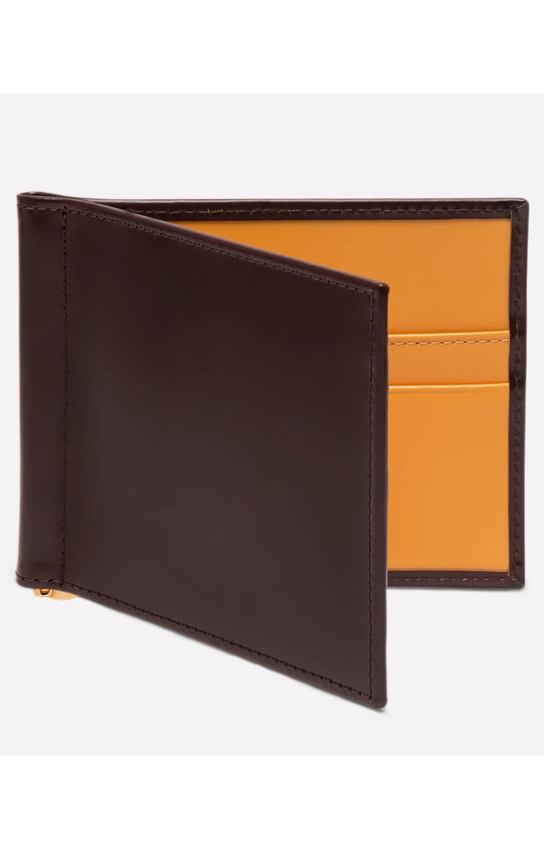 BRIDLE HIDE MONEY CLIP WALLET - NUT