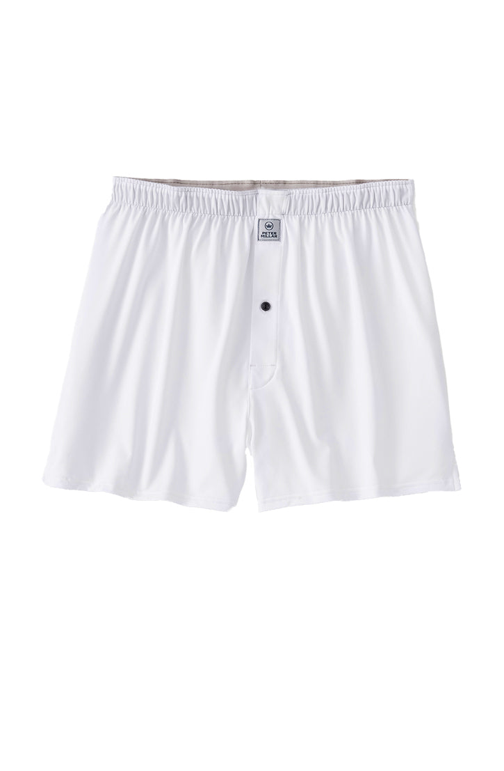 SOLID STRETCH JERSEY BOXER - WHITE