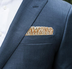 BEVY FEATHER POCKET SQUARE