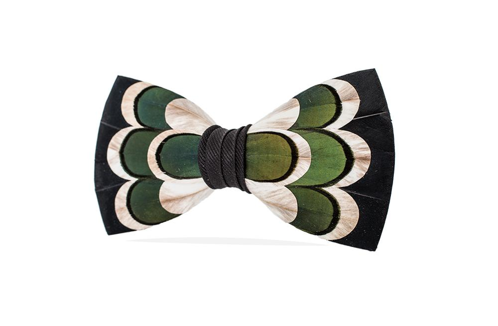 BLUFF FEATHER BOW TIE