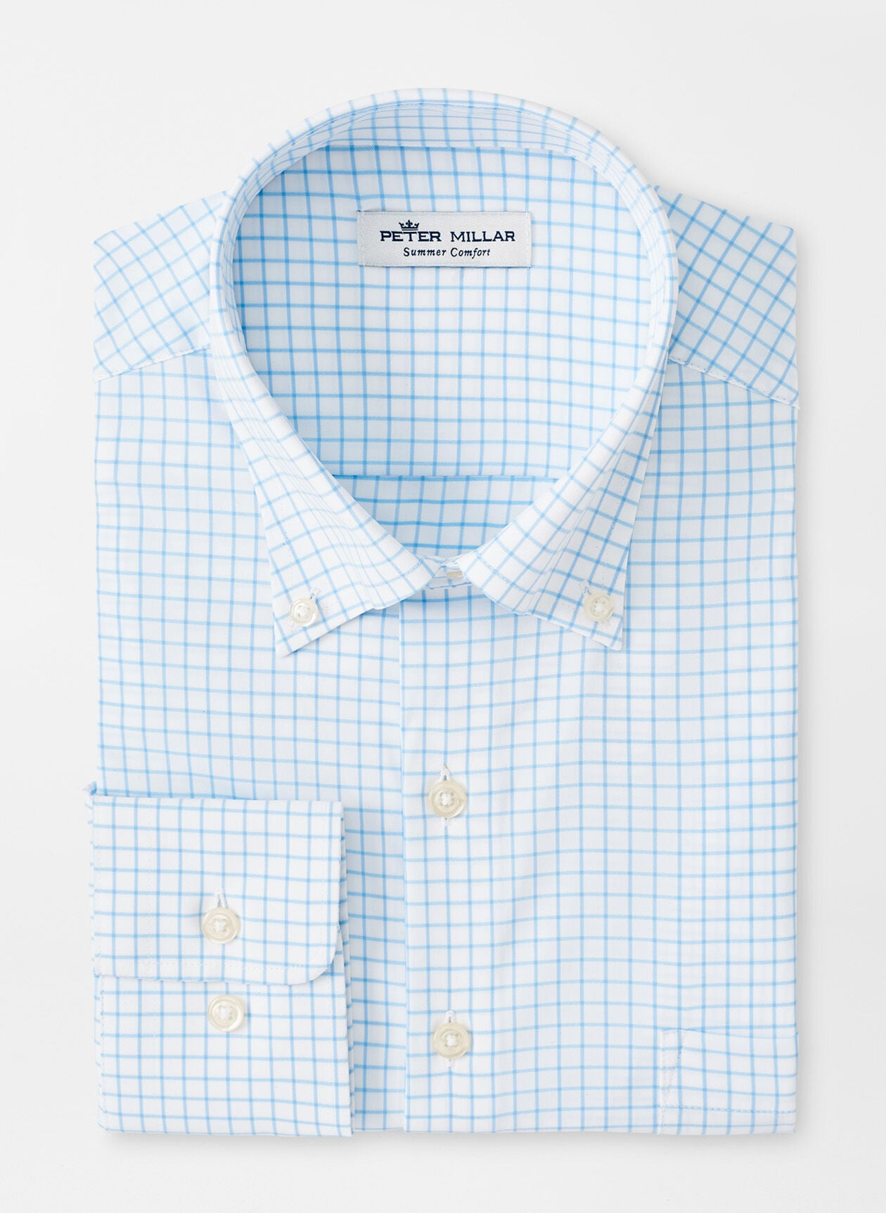 CAPTAIN PERFORMANCE TWILL SHIRT - COTTAGE BLUE