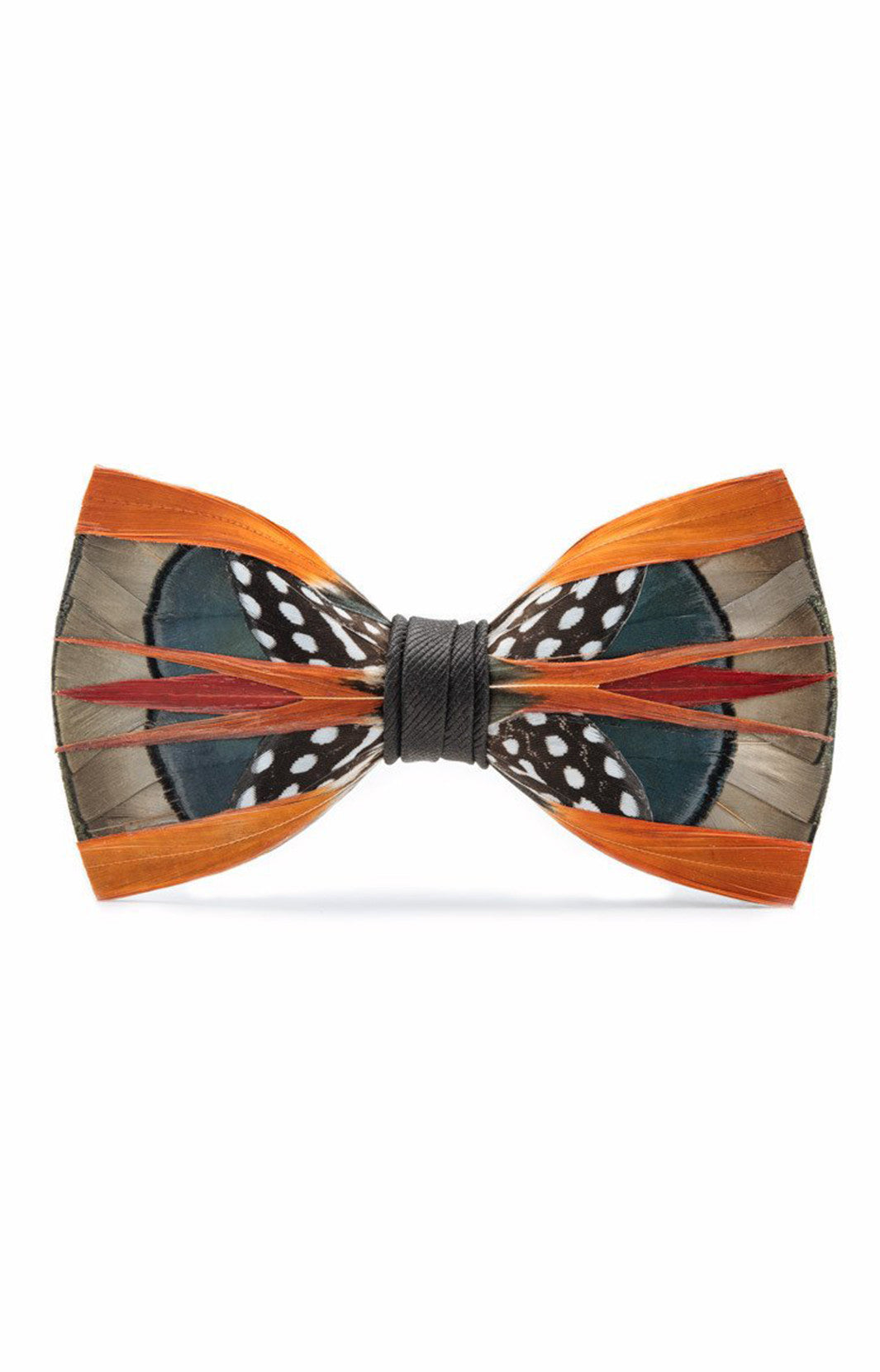 mens feather bow ties, brackish bow ties, orange feathers, formal bow tie, formal attire, wedding bow tie