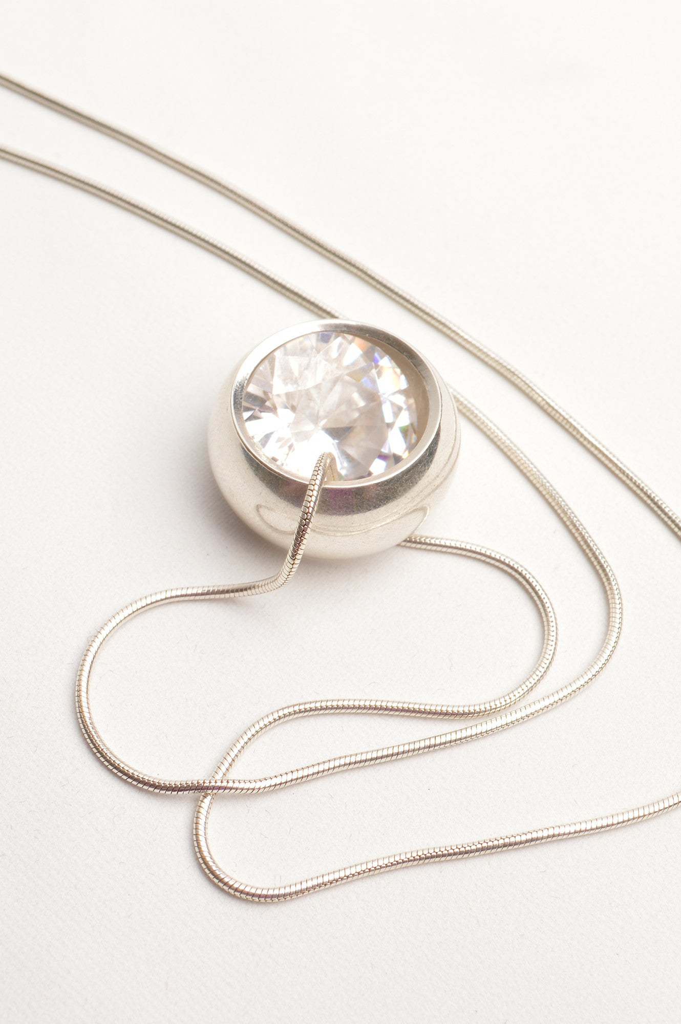 sterling silver ring necklace