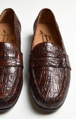 FRANCO CROC PENNY LOAFER - HONEY