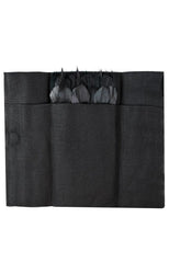 OBSIDIAN FEATHER POCKET SQUARE