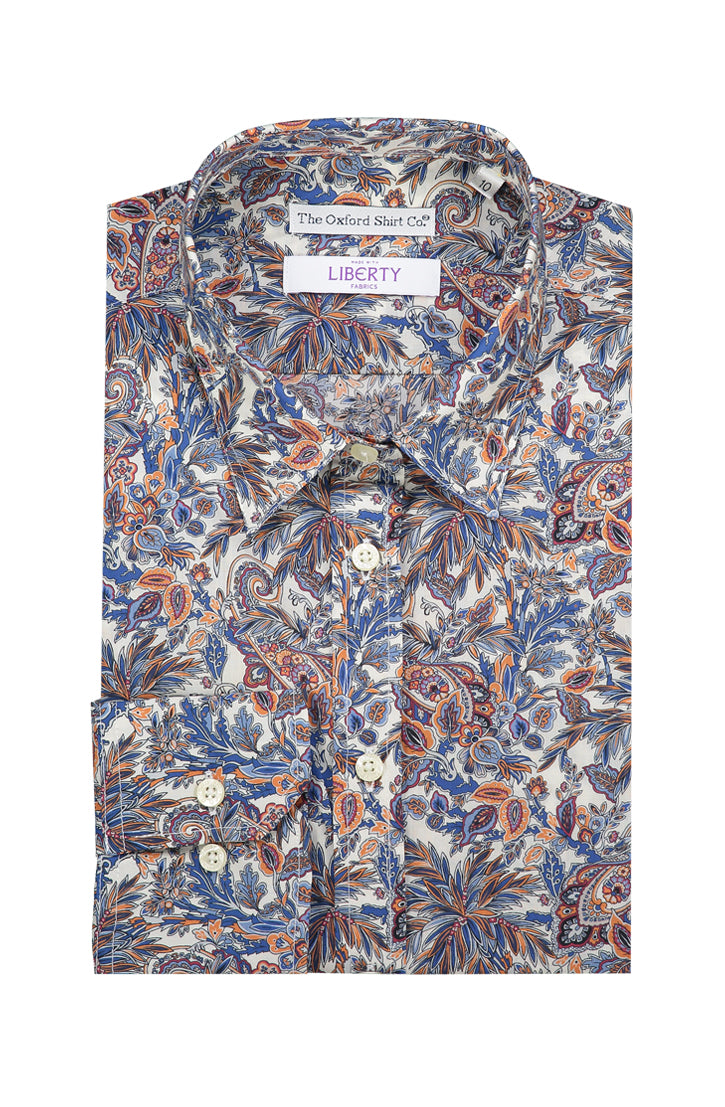 FAR AWAY PAISLEY LIBERTY PRINTED FITTED SHIRT