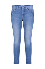 SLIM FRINGE JEANS - LIGHT BLUE EDGY