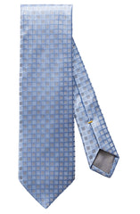 LIGHT BLUE LITTLE FLOWER PRINT SILK BLEND TIE