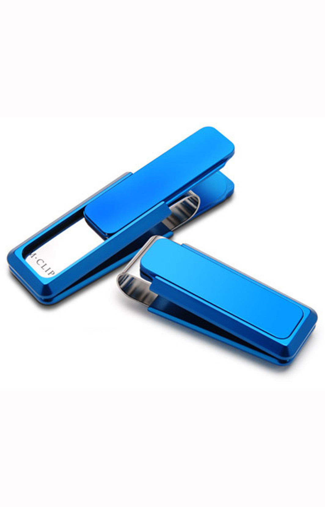 fashion clip, mens money clip, money clip, blue clip, blue money clip, aluminum money clip, m clip