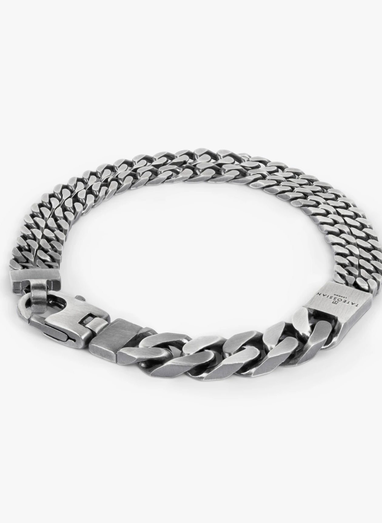 GRUMETTE DUO SLIM BRACELET IN OXIDISED STERLING SILVER